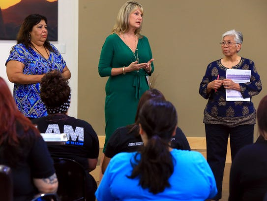 Victim Assistance Coordinator Shirley Esparaza (from