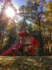 There are two playgrounds at Jimmie Davis State Park