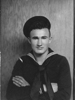 Joe George, early in his Navy years. George will posthumously receive the Bronze Star Medal for Valor on Thursday, Dec. 7, 2017, aboard the USS Arizona Memorial in Pearl Harbor.
