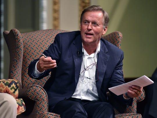 John Grisham, who has almost 300 million books in print, spoke in September 2015 at the inaugural Mississippi Book Festival in Jackson.