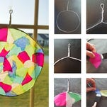 Kid's Craft: You and the kids can create a pretty and unique tissue paper suncatcher.