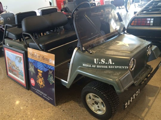 A donated Congressional Medal of Honor golf cart that