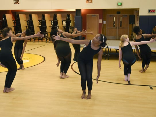 Dancers from University Prep Science and Math Middle