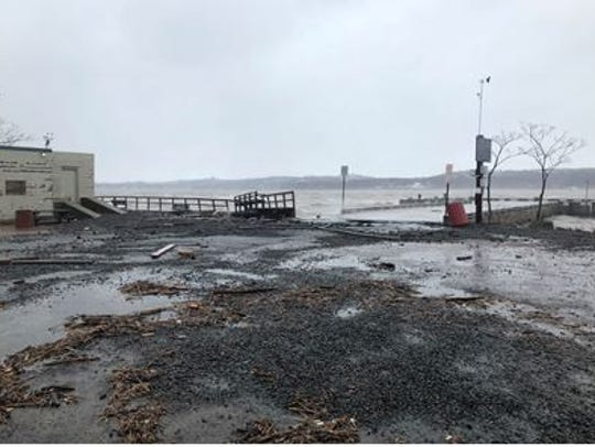 Piermont Pier damaged by storm on March 5 2018