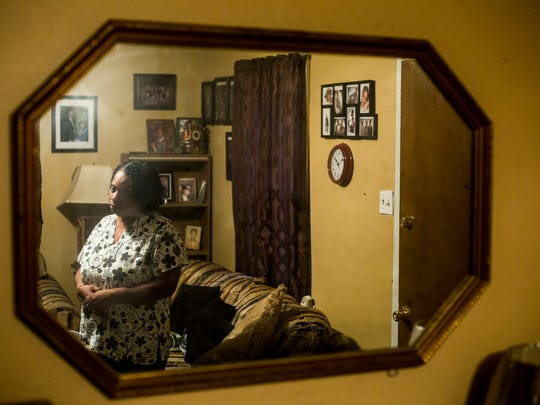 July 28, 2017 - Vickie Burks, Aries Clark's grandmother, talks about her grandson at her home in West Memphis. Aries Clark, 16, was shot and killed Tuesday night by Marion, Ark. police outside the East Arkansas Youth Services center.