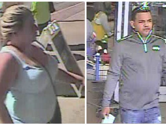 These two are suspects in an identity theft case being