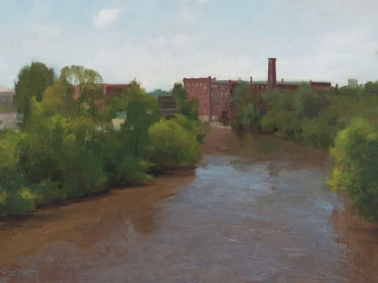 """June Flood"" by TJ Cunningham is among the works on display at the Edgewater Gallery in Middlebury through June."