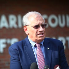 Ontario County Sheriff Philip Povero updates the media on the ongoing investigation into the Tony Stewart incident in Canandaigua Monday afternoon.