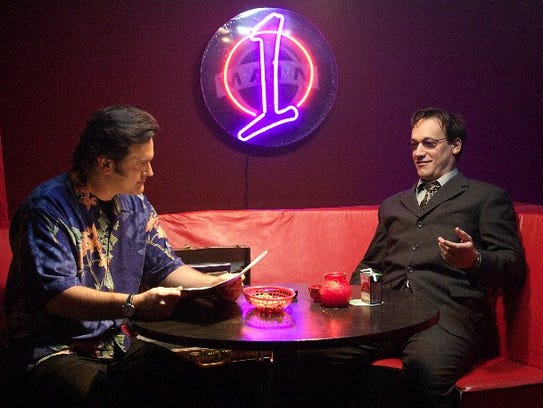 Bruce Campbell, left, and Ted Raimi in 2007 movie comedy