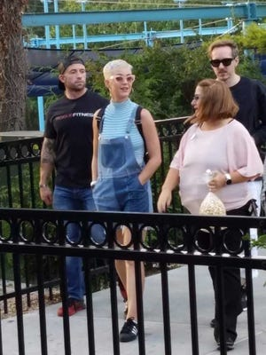 Pop star Katy Perry was spotted at Hersheypark on Saturday, Sept. 16.