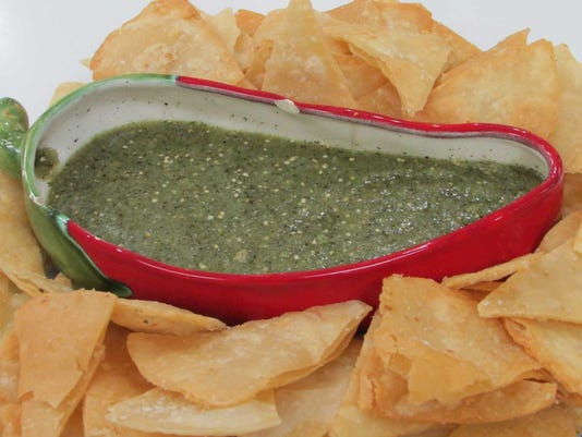 How to make Roasted Tomatillo Salsa with Homemade Corn Chip.