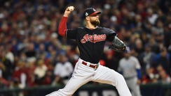 Corey Kluber struck out nine batters to earn the win