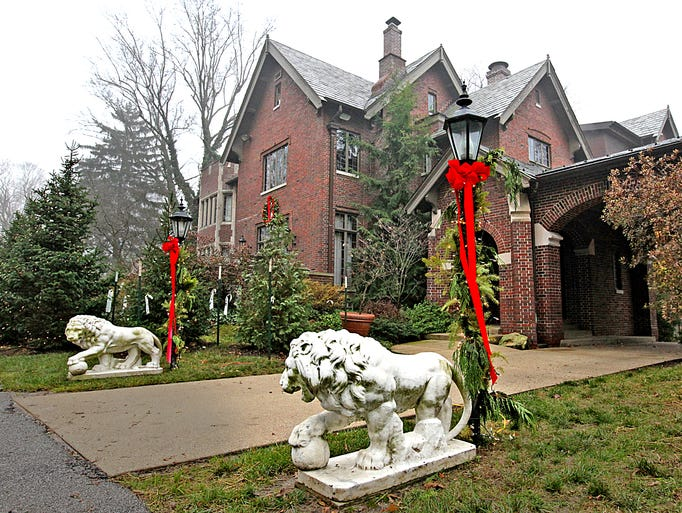 The Indiana governor's residence, 4750 N. Meridian St., is decorated for the holidays. Gov. Mike Pence and Karen Pence live in the 10,500-square-foot English Tudor-style home with their dog, two cats, a rabbit and a goldfish.  It was built in 1928 and acquired by the state in 1973.