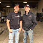 Global RallyCross driver Steve Arpin (left) and Loenbro president Paul Leach are part of the Ganassi-Loenbro Racing Team