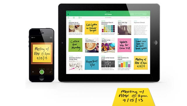 Evernote's Post-It Note camera feature.