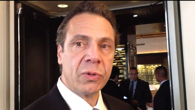 Gov. Andrew Cuomo's salary is $179,000.