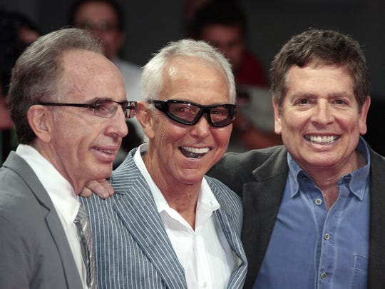 Jerry Zucker (left to right), Jim Abrahams and David Zucker