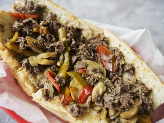 The Philly cheese steak sandwich at Philly Junction