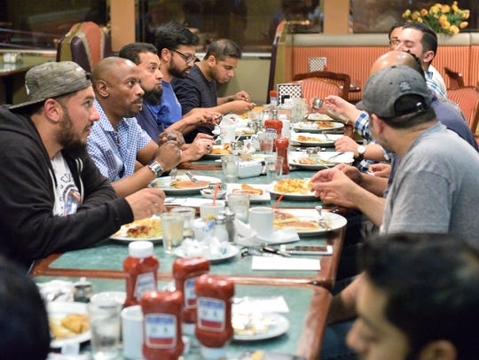 Muslims meet at the Chit Chat diner in Hackensack last