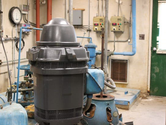 The water pump at the Water Treatment Plant.