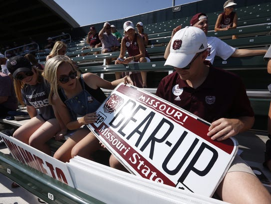 Missouri State fans at the NCAA Super Regional in Fort