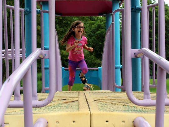 Five-year old Sofia Padilla was having a blast at the