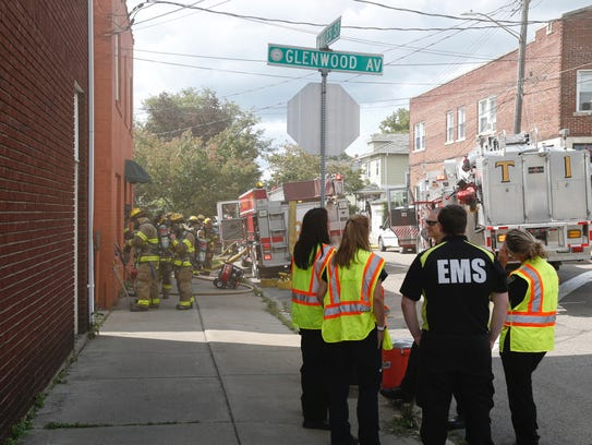 Traffic was diverted on Glenwood Avenue as firefighters