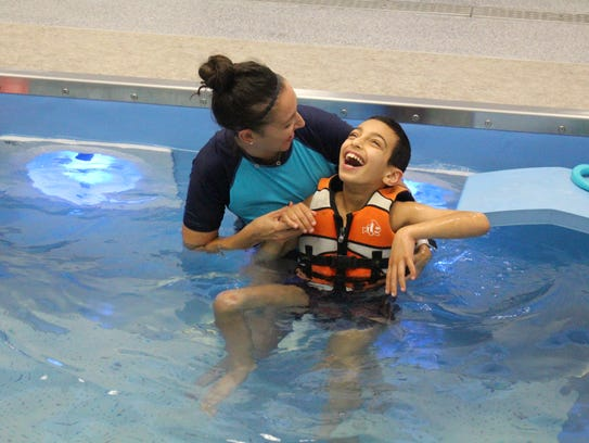 Apool demonstration starring Lakeview School student