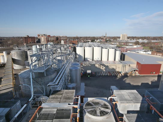 The view down on the massive modernization project at Genesee Brewery on St. Paul Street in Rochester. The Rochester brewery is almost done with the first phase of its $49.1 million modernization project.