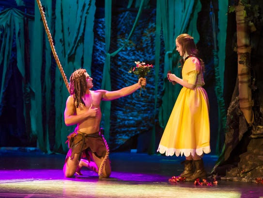 Tarzan (Bryson Petersen) presents Jane (Ashlen Loskot)