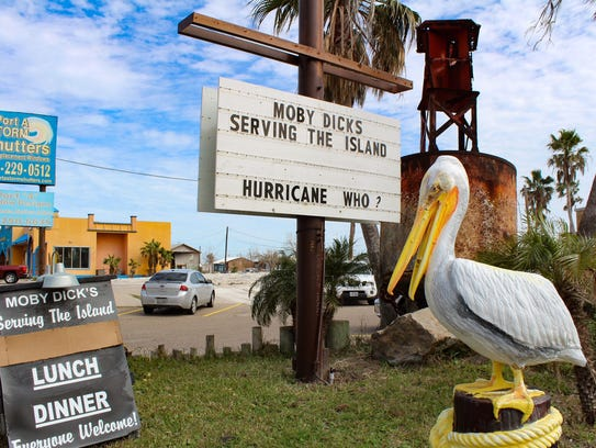 The iconic Moby Dick's Restaurant, heavily damaged