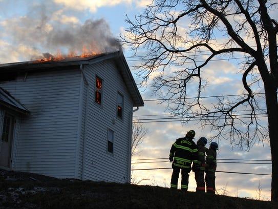 Webster volunteer firefighter Jake Swingly passes on