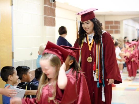 Tuloso-Midway High School valedictorian Morgan Apostol