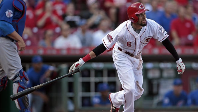 The Reds don't want Billy Hamilton to give up hitting from the left side after his struggles this season.