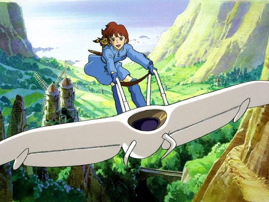 """""""Nausicaä of the Valley of the Wind,"""" from 1984, is"""