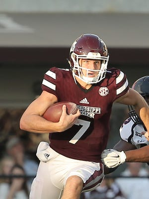 Mississippi State quarterback Nick Fitzgerald leads his team into a difficult stretch in November.