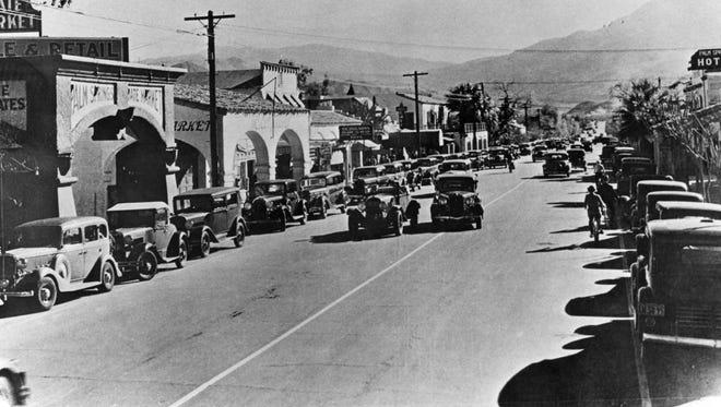 Main Street (Palm Canyon Dr.) c. 1930.