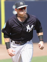 Yankees workout this afternoon. Clint Frazier runs