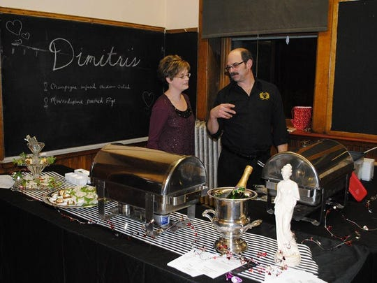 Dimitri's Restaurant competes against six other local chefs during Chefs and Champagne, making dishes judged on taste, appearance and best use of champagne.