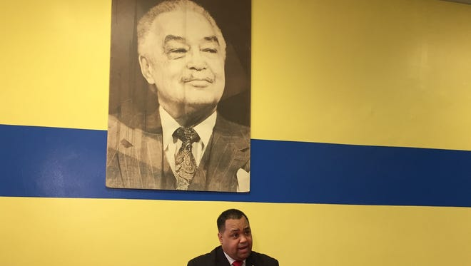 Coleman Young II announces his run for Detroit mayor on Feb. 24, 2017.