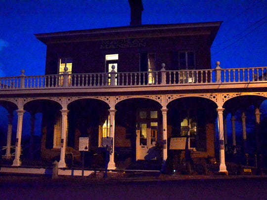 A look at the outside of the Mackay Mansion taken just as the sun was setting on Oct. 18 in Virginia City.