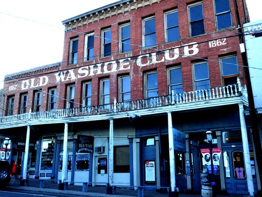 A view of the outside of the Washoe Club taken on Oct. 21 from C Street in Virginia City. The building is said to the most haunted place in town.