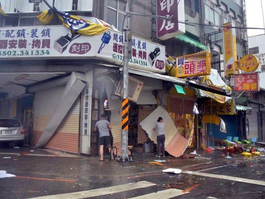 Super Typhoon Nepartak lashed Taiwan with powerful