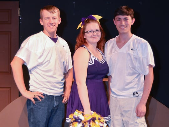 """John Bohatch, Caitlin Priest and Reece Resendez star in """"Cost of Winning,"""" a play that Riverfront Playhouse will perform in July."""