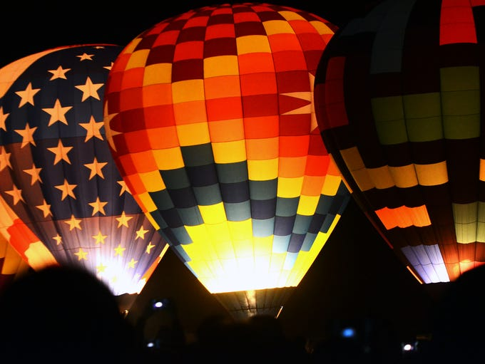 Images of the Great Reno Balloon Race during the Dawn