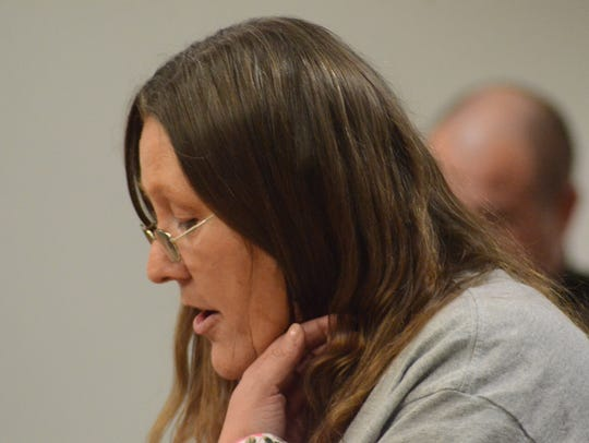 Janessa Nunley speaks to the court about the death