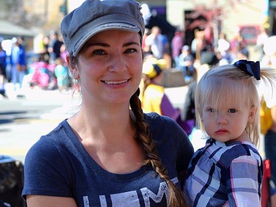 Ashley Salisbury, 32, of Reno holds her 1-year-old