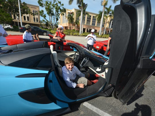 Gregory rides in a McLaren 570s. Big Brothers Big Sisters