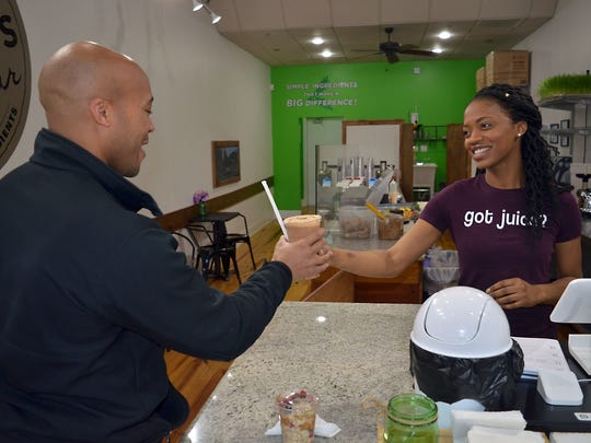 T'Keyah Williams, co-owner of Mama Nature's Juice Bar,