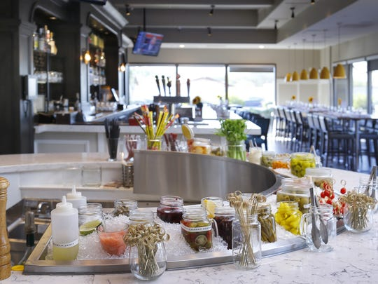 """""""DIY"""" Bloody Mary bar at The Hash Kitchen in Scottsdale."""